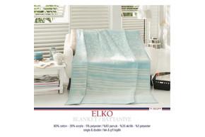 Плед хлопковый U.S.Polo Assn - Elko голубой 200x220