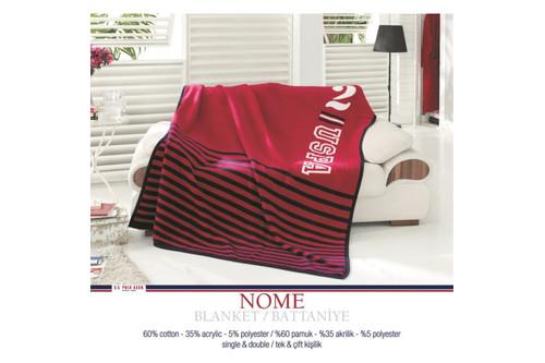 Плед хлопковый U.S.Polo Assn - Nome красный 200x220