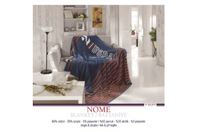 Плед хлопковый U.S.Polo Assn - Nome синий 150*200
