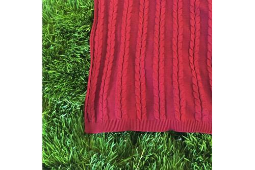 Плед Lotus - Alpakina косы терракот 160*190