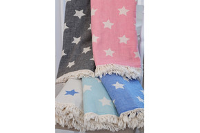 Плед-накидка Barine - Stars Throw mavi синий 130x170