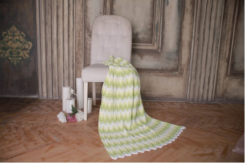Плед детский - OTM-Design Волна, салатовый