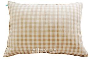 Подушка ткань лен, наполнитель холлофайбер 50х70 см