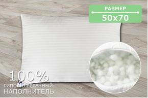 Подушка ХБ07, размер 50х70 см, ткань бязь, холлофайбер