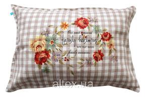 Подушка тканина льон, наповнювач холлофайбер 50х70 см ЛП04
