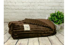 Плед-покрывало Велюр, шоколад, 220x230 евро