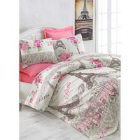 Покрывало стеганное с наволочками Eponj Home - CafeParis pembe розовый 200*220