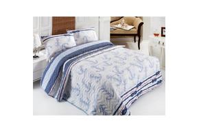 Покрывало стеганное с наволочками Eponj Home - Capa mavi голубое 200*220