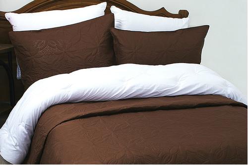 Покрывало Lotus Broadway - Basic коричневый, 100% микрофибра, размер полуторный