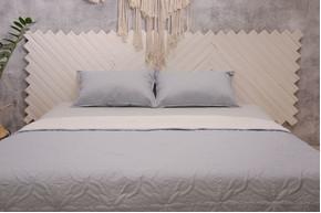 Покрывало Point-Art - Basic серый, 100% микрофибра, размер евро