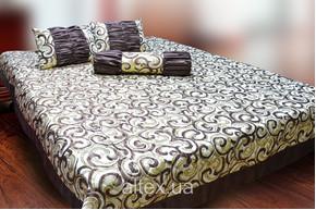 Жаккардовое покрывало Клеопатра 6 + подушки и валик, размер 240х260, 50х60, 70х17 см
