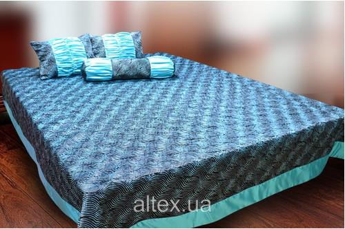 Жаккардовое покрывало Клеопатра 5 + подушки и валик, размер 240х260, 50х60, 70х17 см