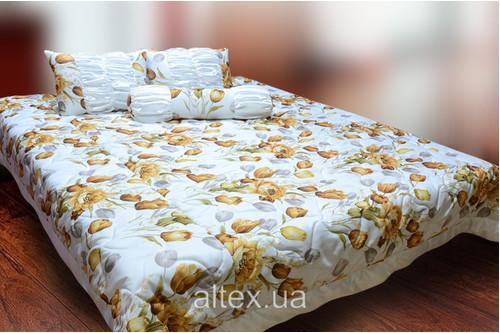 Жаккардовое покрывало Клеопатра 11 + подушки и валик, размер 240х260, 50х60, 70х17 см
