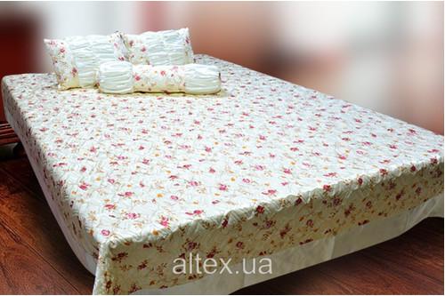Жаккардовое покрывало Клеопатра 1 + подушки и валик, размер 240х260, 50х60, 70х17 см