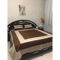 Комплект T1 brown  покрывало + подушки, размеры 220х240, 50х70, см