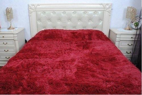 Плед бамбуковый пушистый, Red, 220*240 евро