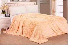 Плед бамбуковый пушистый, Peach, 160x210 полуторный
