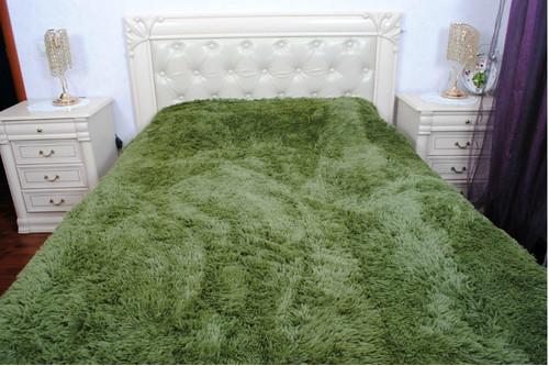 Плед бамбуковый пушистый, Green, 220*240 евро
