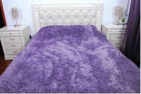 Плед бамбуковый пушистый, Purple, 160x210 полуторный