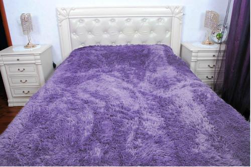 Плед бамбуковый пушистый, Purple, 160*210 полуторный