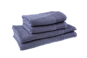 Полотенце махровое, цвет Серый, плотность 400, размер 70х140 см