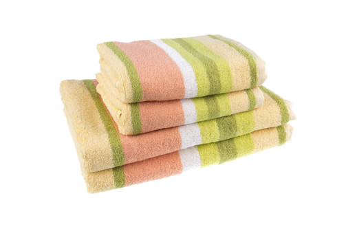 Полотенце махровое Каприз, разноцветные полосы, 100 % хлопок, плотность 360, размер 67х134 см