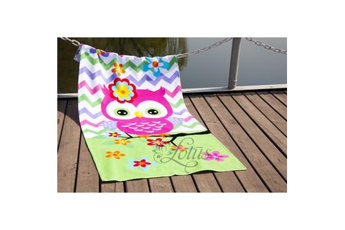Полотенце Lotus пляжное - Little Owl 75*150 велюр