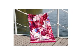 Полотенце Lotus пляжное - Paradise Fusya 75*150 велюр