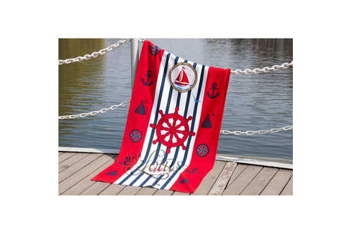 Полотенце Lotus пляжное - Sailor 75*150 велюр