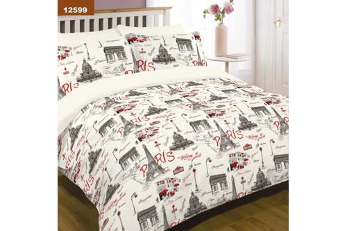 Комплект постельного белья Viluta Ранфорс 12599, 100% хлопок, размер полуторный