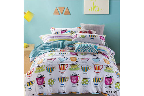 Комплект постельного белья Viluta Ранфорс 17161, 100% хлопок, размер подростковый