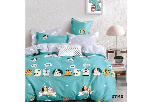 Комплект постельного белья Viluta Ранфорс 21140, 100% хлопок, размер подростковый