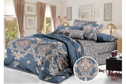 Комплект постельного белья Viluta Сатин Твил 303, 100% хлопок, размер двуспальный