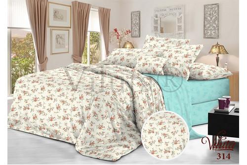 Комплект постельного белья Viluta Сатин Твил 314, 100% хлопок, размер полуторный