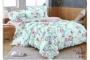 Комплект постельного белья Viluta Сатин Твил 315, 100% хлопок, размер полуторный