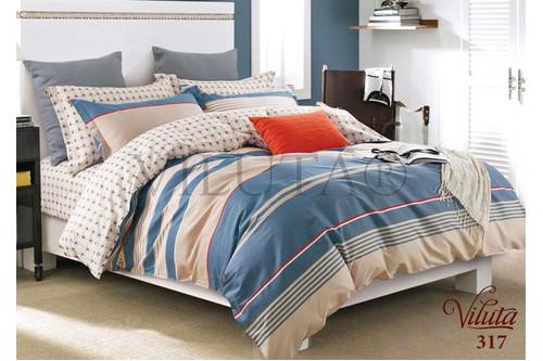 Комплект постельного белья Viluta Сатин Твил 317, 100% хлопок, размер евро