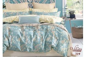 Комплект постельного белья Viluta Сатин Твил 319, 100% хлопок, размер евро