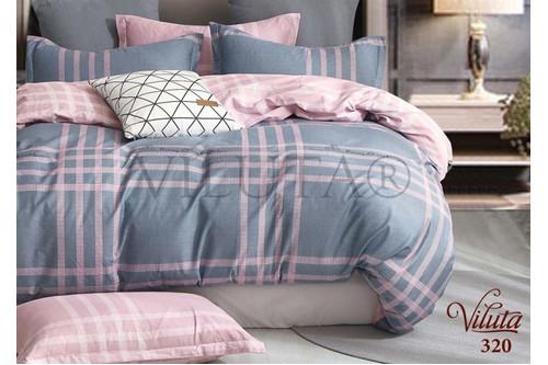 Комплект постельного белья Viluta Сатин Твил 320, 100% хлопок, размер евро
