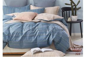 Комплект постельного белья Viluta Сатин Твил 322, 100% хлопок, размер евро