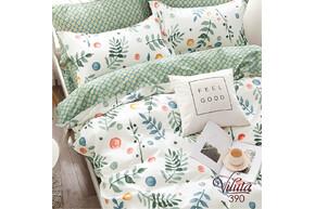 Комплект постельного белья Viluta Сатин Твил 390, 100% хлопок, размер евро