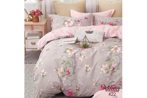 Комплект постельного белья Viluta Сатин Твил 422, 100% хлопок, размер евро