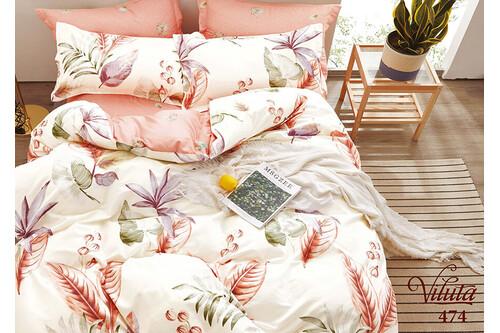 Комплект постельного белья Viluta Сатин Твил 474, 100% хлопок, размер евро