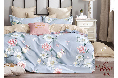 Комплект постельного белья Viluta Сатин Твил 476, 100% хлопок, размер евро