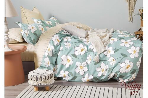 Комплект постельного белья Viluta Сатин Твил 477, 100% хлопок, размер евро