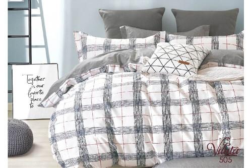 Комплект постельного белья Viluta Сатин Твил 505, 100% хлопок, размер евро