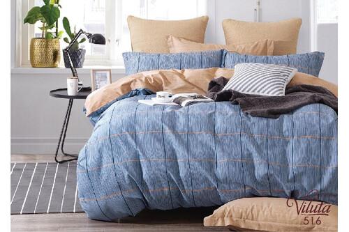 Комплект постельного белья Viluta Сатин Твил 516, 100% хлопок, размер евро