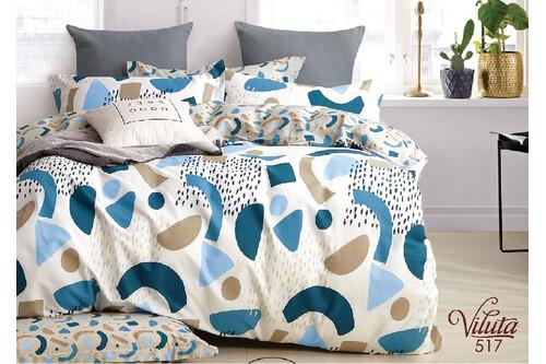 Комплект постельного белья Viluta Сатин Твил 517, 100% хлопок, размер полуторный