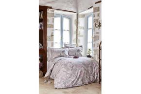 Постельное белье Karaca Home ранфорс - Akina gri 2019-2 серый полуторное