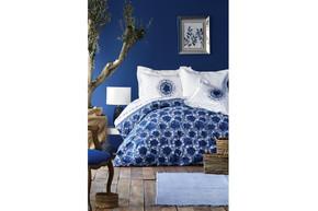 Постельное белье Karaca Home ранфорс - Belina mavi 2019-2 голубой полуторное