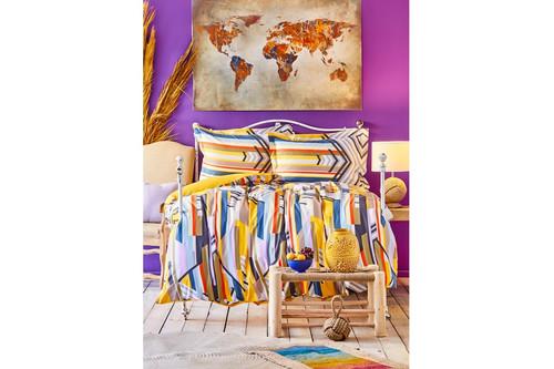 Постельное белье Karaca Home ранфорс - Cherry sari 2020-1 желтый полуторное